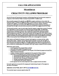 creativity fellows program -