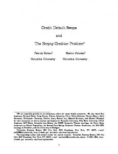 Credit Default Swaps and The Empty Creditor Problem!