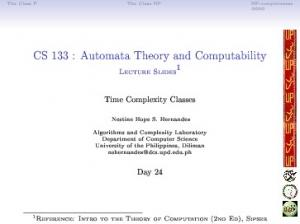 CS 133 : Automata Theory and Computability Lecture ...