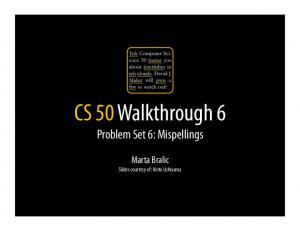 CS 50 Walkthrough 6 - CS50 CDN