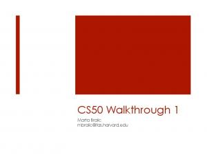 CS50 Walkthrough 1 - CS50 CDN