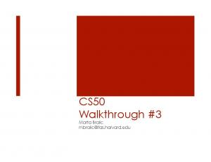 CS50 Walkthrough #3 - CS50 CDN