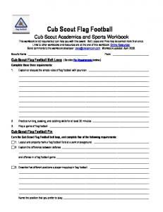 Cub Scout Flag Football - Livingston Cub Scouts