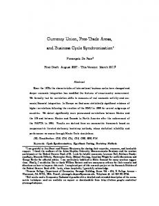 Currency Union, Free'Trade Areas, and Business Cycle ... - eabcn