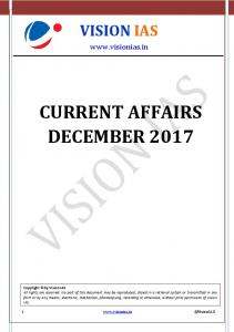 current affairs december 2017 - Vision IAS