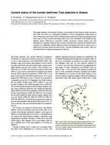 Current status of the tomato leafminer Tuta ... - Wiley Online Library