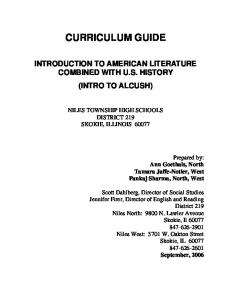 curriculum guide - Niles Township High Schools District 219