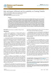 D5 Relationship between reward and accountability with training ...