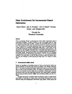 Data Enrichment for Incremental Reach Estimation
