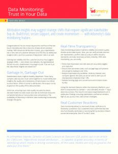 Data Monitoring: Trust in Your Data  Services