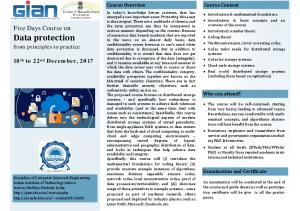 Data protection - IIT Indore