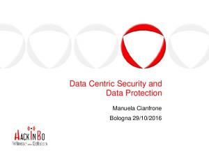 Data Security Model and Data Protection - HackInBo