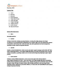December, 2012 Position Titles 1. Intern 2. Assistant ... -
