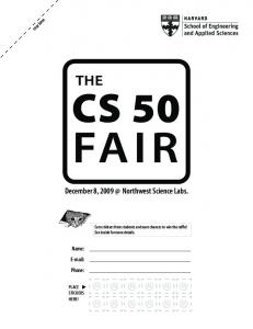 December 8, 2009 @ Northwest Science Labs. - CS50 CDN