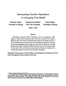 Decomposing Duration Dependence in a Stopping ...