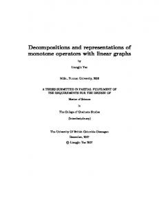 Decompositions and representations of monotone ...
