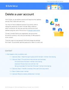 Delete a user account - G Suite