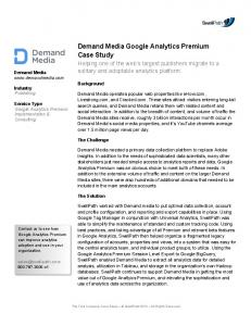 Demand Media Analytics Case Study  Marketing Platform