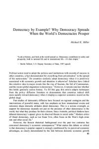 Democracy by Example? Why Democracy Spreads When the World's ...