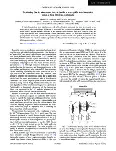 Dephasing due to atom-atom interaction in a ...