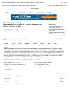 Design and implementation of a new tinnitus ... -
