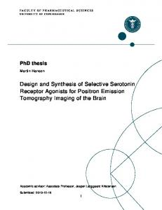 Design and Synthesis of Selective Serotonin Receptor Agonists for ...