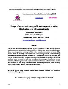 Design of secure and energy-efficient cooperative video distribution ...