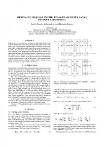 design of unequal-length linear-phase filter banks ... - IEEE Xplore