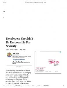 Developers Shouldn't Be Responsible For Security - Forbes.pdf ...