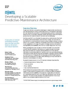 Developing a Scalable Predictive-Maintenance Architecture White Paper