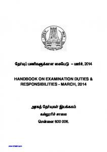 DGE - HANDBOOK ON EXAMINATION DUTIES & RESPONSIBILITIES ...