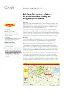 DHL Same Day improves efficiency, increases ...  services