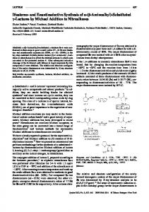 Diastereo- and Enantioselective Synthesis of a-(b ...