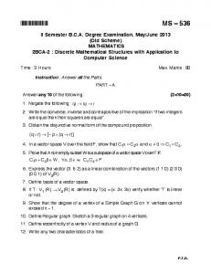 DISCRETE MATHEMATICS STRUCTURES WITH APPLICATION TO ...