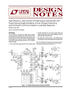 DN489 - High Efficiency, High Density 3-Phase Supply Delivers 60A ...