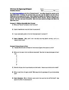 DNA from the Beginning Webquest.pdf