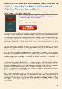 Doremus-Lin-And-Rosenberg-s-Environmental-Policy-Law ...