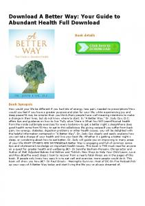 Download A Better Way: Your Guide to Abundant ...