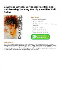 Download African-Caribbean Hairdressing ...