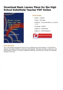 Download Basic Lesson Plans for the High School Substitute Teacher ...