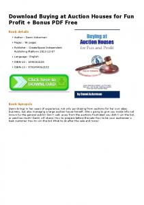 Download Buying at Auction Houses for Fun Profit + ...