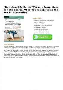 [Download] California Workers Comp: How to Take ...