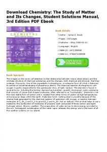 Download Chemistry: The Study of Matter and Its ...
