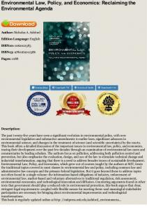 Download Environmental Law, Policy, and Economics ...