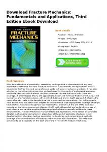 Download Fracture Mechanics: Fundamentals and ...