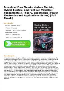 Download Free Ebooks Modern Electric, Hybrid Electric, and Fuel Cell ...