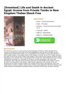 [Download] Life and Death in Ancient Egypt: Scenes ...