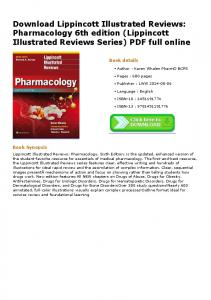 lippincott illustrated reviews pharmacology 6th edition lippincott illustrated reviews series