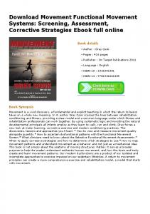 Download Movement Functional Movement Systems