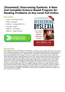[Download] Overcoming Dyslexia: A New and ...